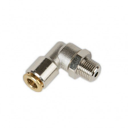 Push In Swivel Connector 90 Degree (6mm Tube)